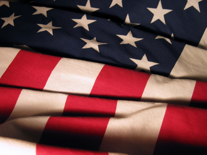 A United States flag