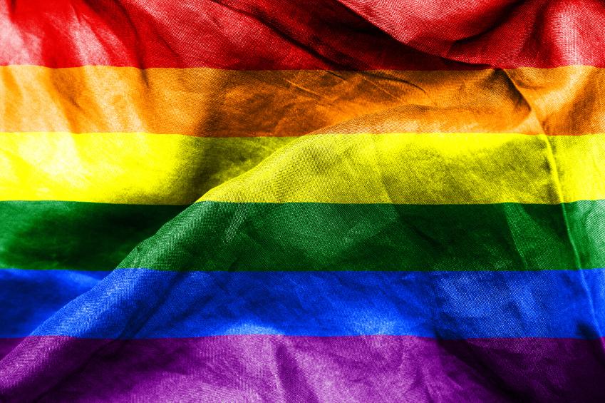 The rainbow flag of the LGBT community
