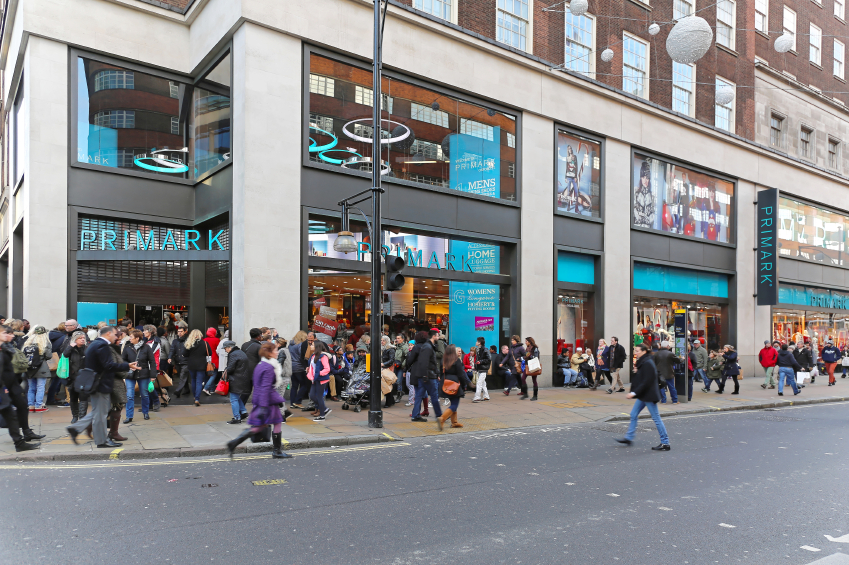 Front of a Primark store