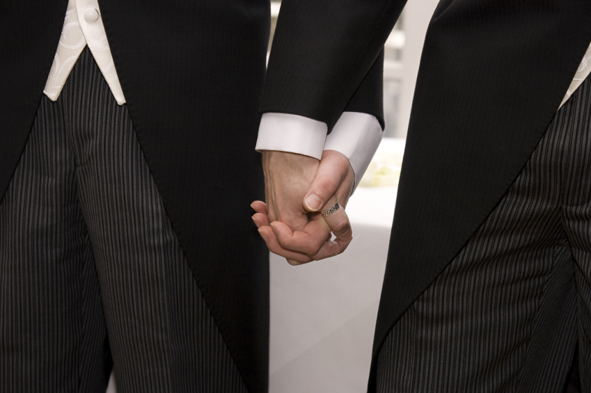 gay couples hold hands