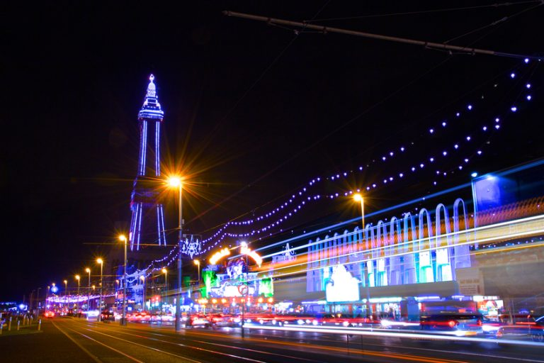 Blackpool tower and illuminarions