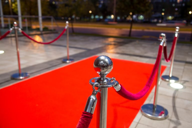 A red carpet
