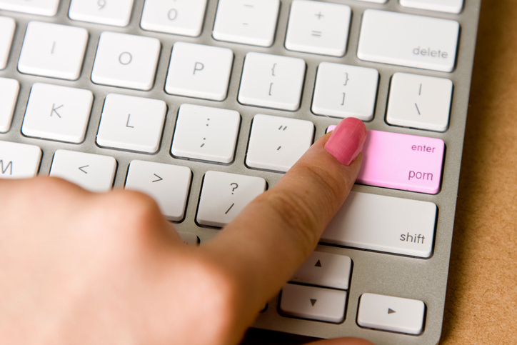 A woman wants to watch porn