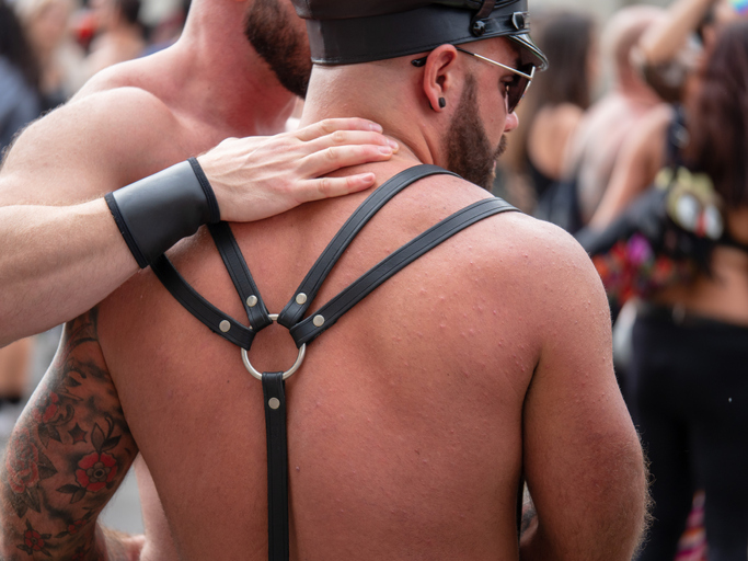 A typical example of the BDSM submissives you see in the bondage community