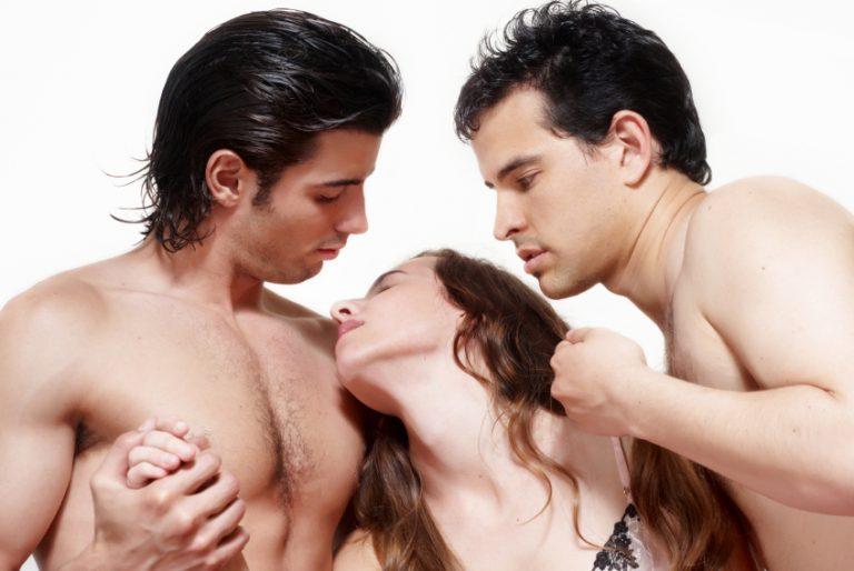 One woman in between two men!