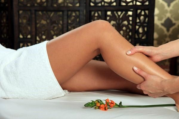 Sexy woman receiving a massage