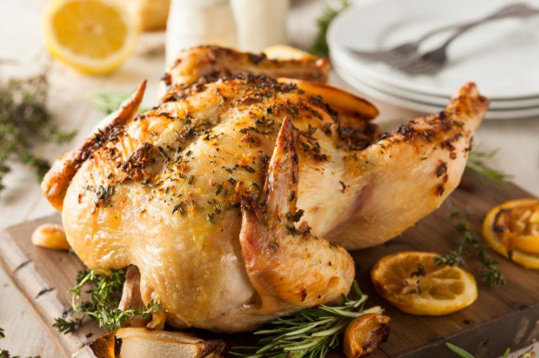 a roast chicken