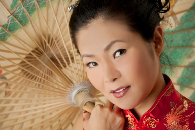 Japanese woman with a fan