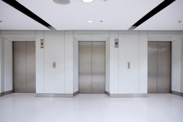 The door of a lift